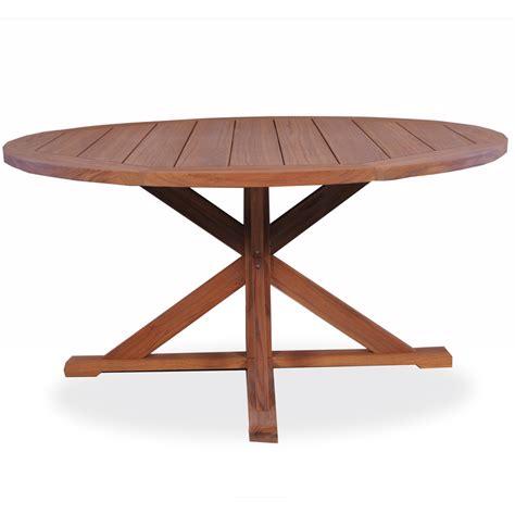 Teak Pedestal Dining Table Lloyd Flanders 60 Quot Pedestal Base Teak Dining Table 286160