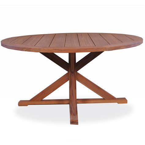 "Lloyd Flanders 60"" round Pedestal Base Teak Dining Table"