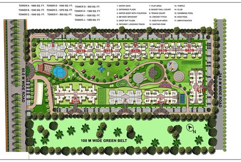 layout plan of noida layout plan of gaur atulyam by gaursons india limited in