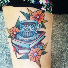 chest tattoo book teacup traditional tattoo american traditional tattoo