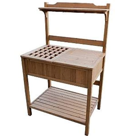 indoor potting bench potting bench with recessed storage mpg pb02