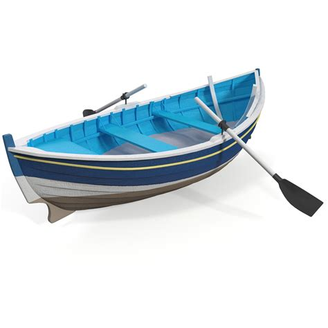 row boat model 3d row boat 2 model