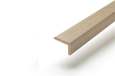 solid hardwood stair nosing 1m white wash