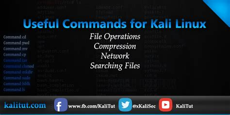 kali linux terminal tutorial useful commands for kali linux kalitut tutorial