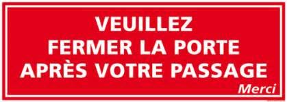 panneau de signalisation la porte d0919
