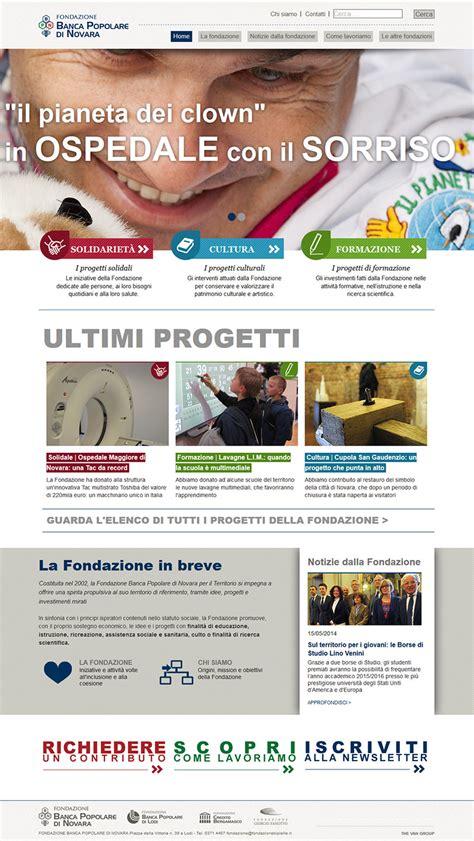 by web banco popolare di lodi fondazione popolare di novara il nuovo sito