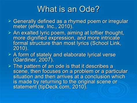 writing an ode template how to write an ode