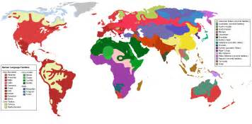 Language Map Of The World by Online Resources