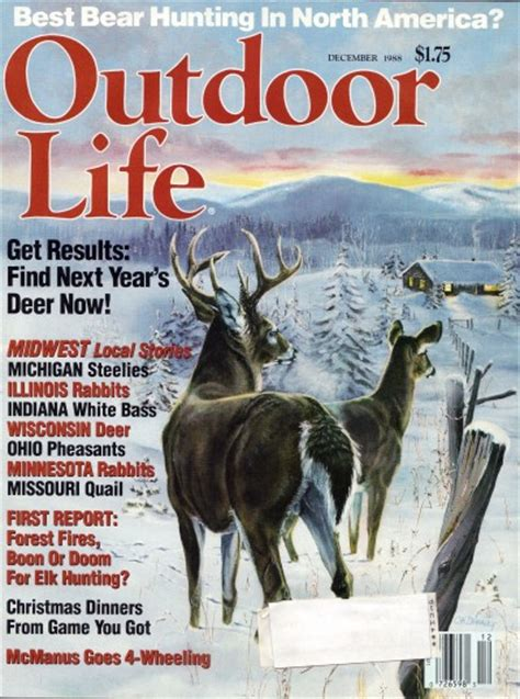 vintage february 1945 outdoor life magazine hunting vintage outdoor life magazine december 1988 like new