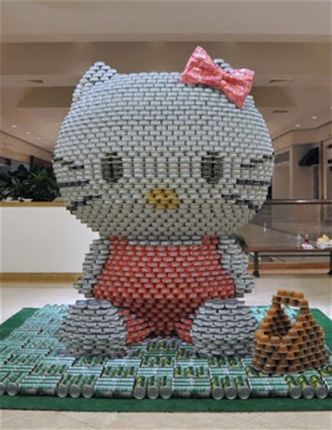 canned food sculpture ideas how to recycle canstruction food cans sculptures