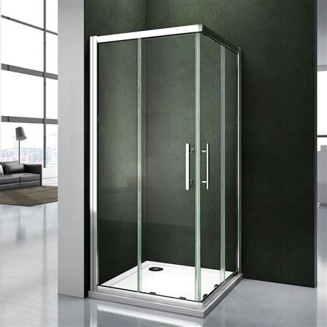 Corner Entry Shower Door Bathroom Shower Enclosure Corner Entry Shower Door Walk In Glass Cubicle Screen Ebay
