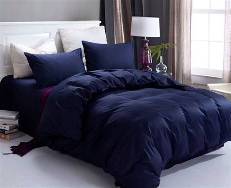 dark blue coverlet aliexpress com buy plain color bedding set 100 cotton