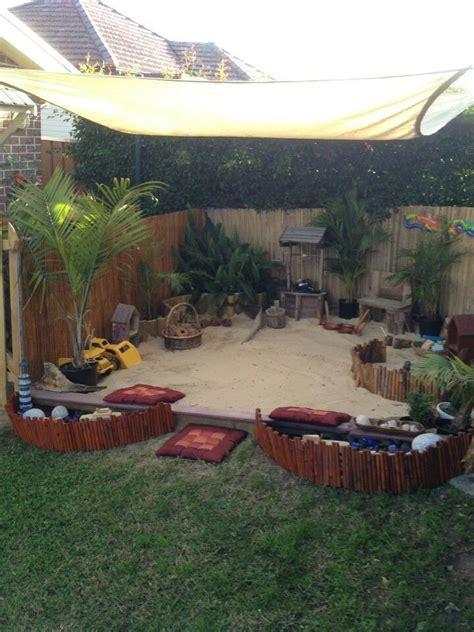 sandpit backyard kids pinterest
