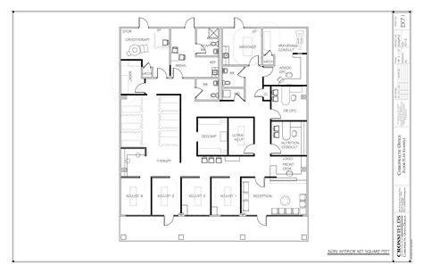 chiropractic office condo suite floorplan with sle floor plan with cryotherapy and decompression