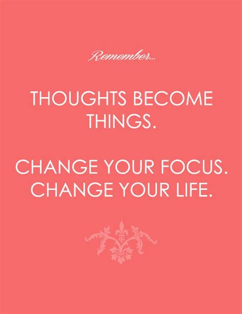 thoughts become things quotes quotesgram