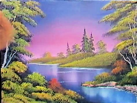 bob ross painting rivers a pen by grovejay
