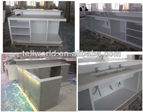 drafting table surface material trend style solid surface office reception table design