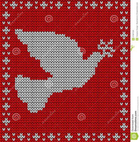 christmas knitting dove pattern stock photo image