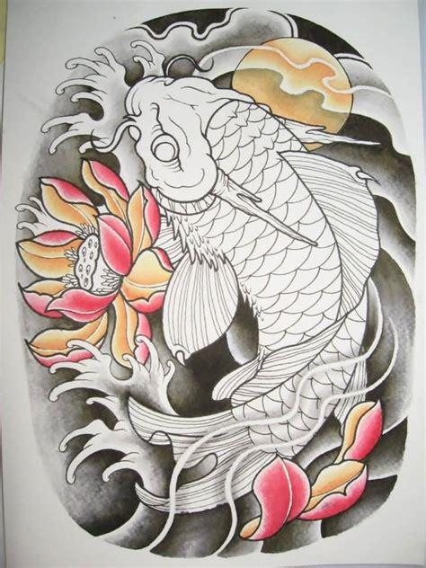 oriental koi tattoo designs dragon fish tattoos askideas com
