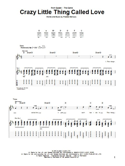Crazy Little Thing Called Love Guitar Chords