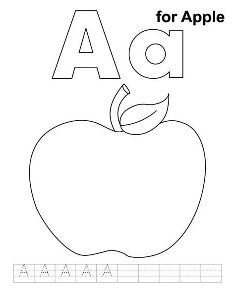 apple number coloring pages pictures of apples for kids coloring home