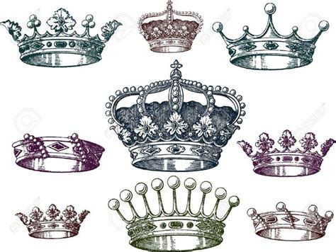 king and queen tattoo flash 13 nice crown tattoo design ideas for girls