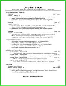 exles of resumes professional resume template