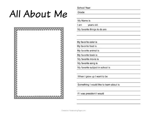 about me template for high school logic worksheets images frompo