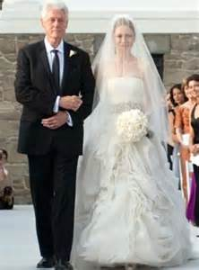 revealed chelsea clinton s two vera wang wedding dresses