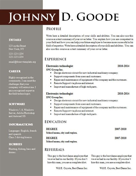 Color Resume by Best Color For Resume 28 Images 52 Best Best Resume