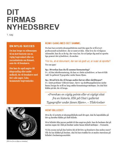 artikel layout skabelon nyhedsbrev office templates