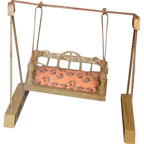 doll swing old miniature wicker wood doll swing dollhouse from