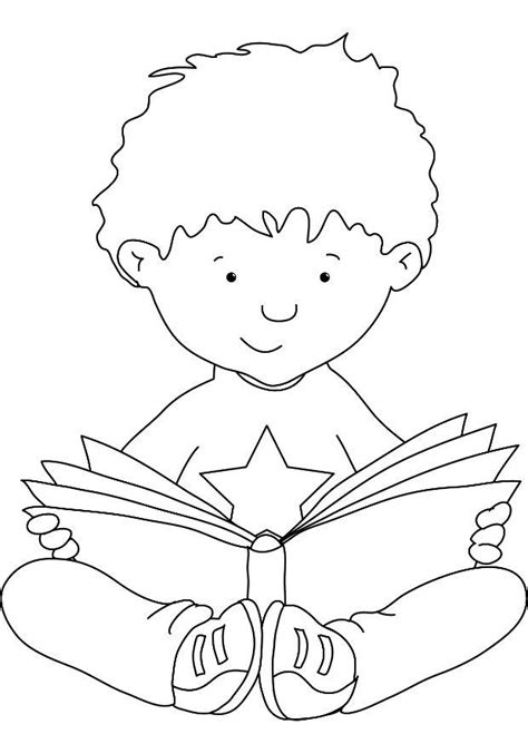 coloring page reading book reading coloring 1 free coloring page site schule
