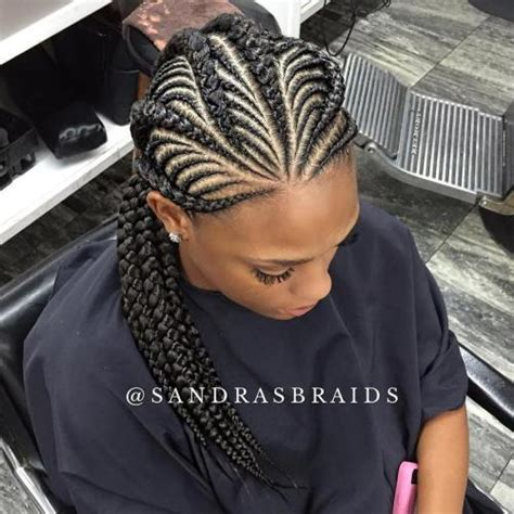 Nigerian Unique Plaiting Lines | 20 gorgeous ghana braids for an intricate hairdo in 2018