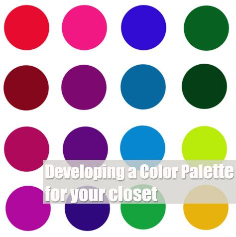 Wardrobe Color Palette by Developing A Color Palette For Your Closet Already
