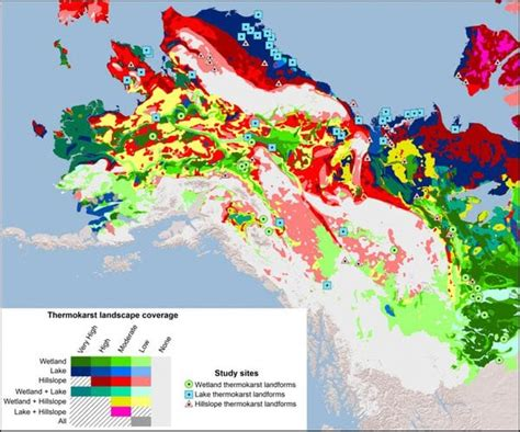 us map that shows alaska new permafrost map shows areas in alaska vulnerable to