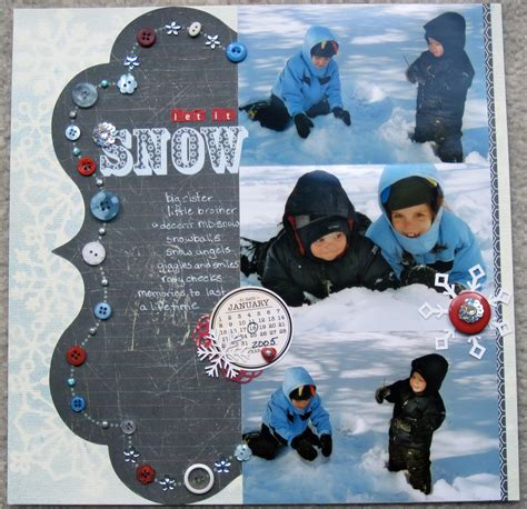 Snow Layout by Let It Snow Scrapbook My Attempts At Arts And