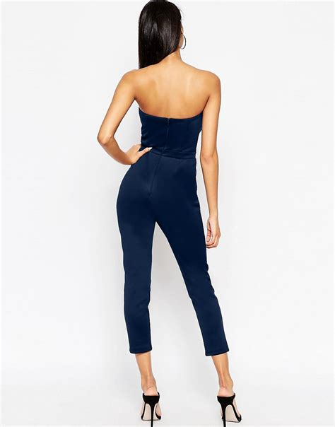 Asos Origami Jumpsuit - asos asos bandeau jumpsuit with origami detail at asos