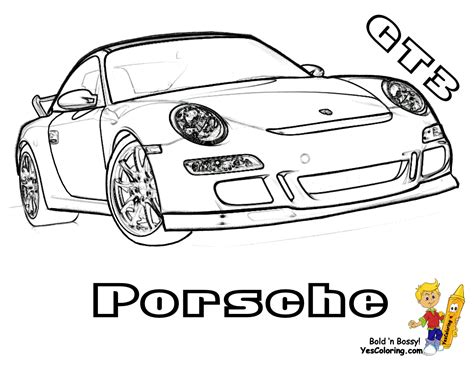 racing car chart colouring pages