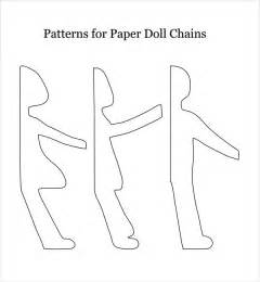 paper doll chain template paper doll sle 7 documents in pdf word eps