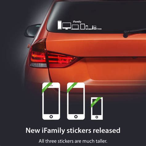 design milk sticker honk if you re a mac ifamily car stickers for apple geeks
