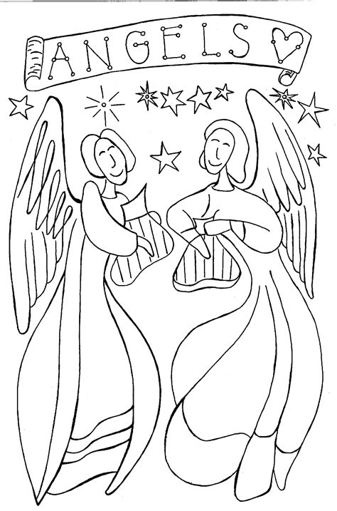 Angel Coloring Pages Pdf | printable angel coloring pages coloring home