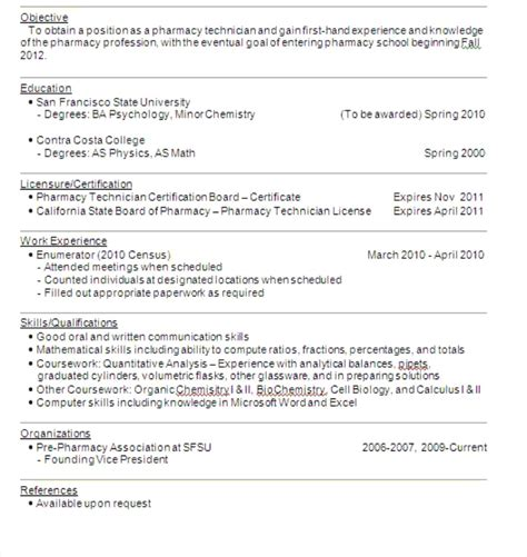 Entry Level Pharmacist Resume by Pharmacy Technician License Resume Free Resume Sle