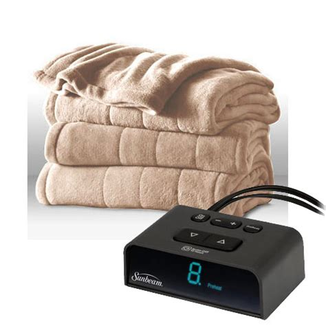 Electric Duvet King Size sunbeam channeled microplush electric heated blanket king size