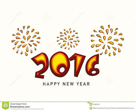creative happy new year texts colorful text 2016 for new year celebration stock illustration image 62380233