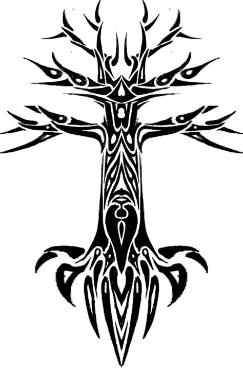 tribal tree tattoo designs tribal tree design by fraxuur on deviantart