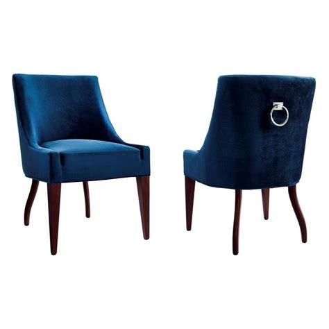 tov furniture dover blue velvet dining chair w silver