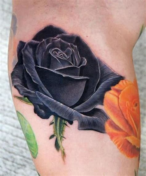 black rose tattoo design 15 black meanings and designs inkdoneright