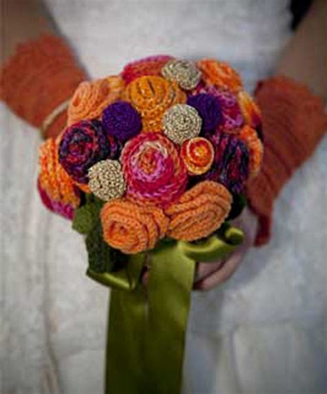 knitted flower bouquet bridal bouquets from knitted search diy wedding