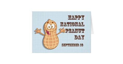 happy national peanut day september 13 card zazzle